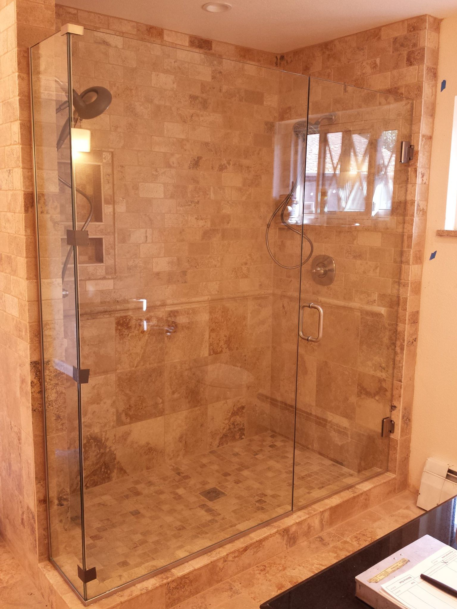 Frameless Golden Tiled w
