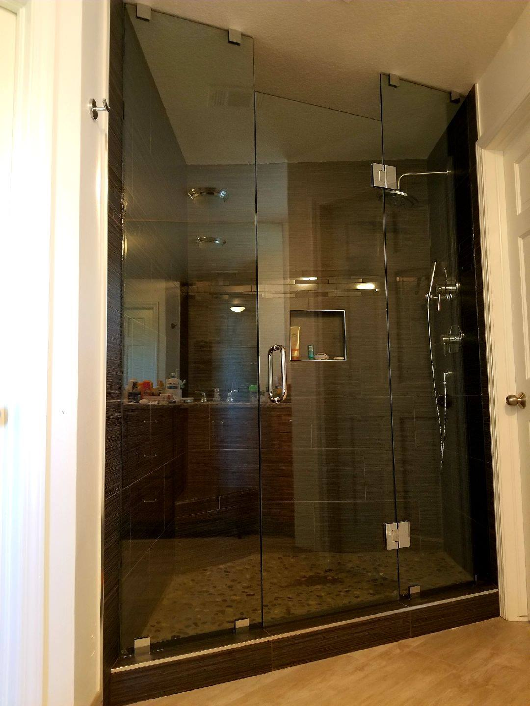 Frameless Tinted Glass Elegance