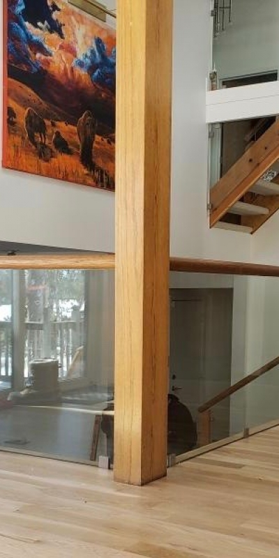 Stair Glass Railing I