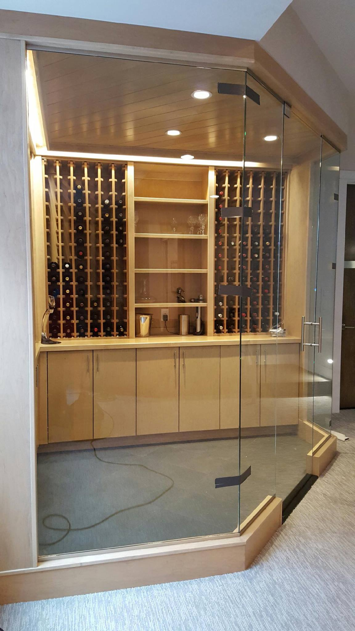 Wine Room Glass Walls